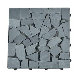 Piastrella sassi 30 x 30  cm x 28  mm grigio