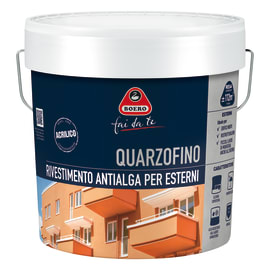 Pittura al quarzo per esterno antialga bianco 14 L