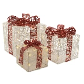 Set 3 pacchetti regalo luminosi a led Led Bianco/classic