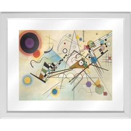 Quadro in vetro con cornice Kandinsky line 45,5x55,5