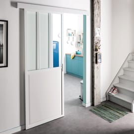 Porta da interno scorrevole Atelier Bianco 86 x H 215 cm reversibile