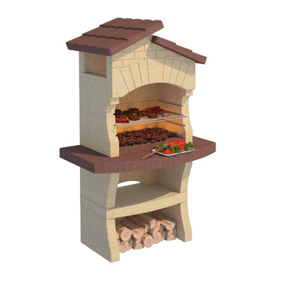 Barbecue in muratura con cappa lione prezzi e offerte for Barbecue leroy merlin in muratura