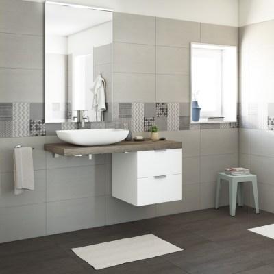 Mobile bagno plan l 120 cm prezzi e offerte online leroy - Piastrelle bagno altezza 120 ...