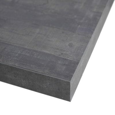 Piano cucina su misura laminato kaos grigio 2 cm prezzi e for Laminato bianco bricoman