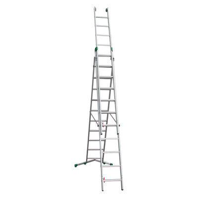Scala sfilo alluminio facal 3x11 gradini per lavori fino for Leroy merlin scala retrattile
