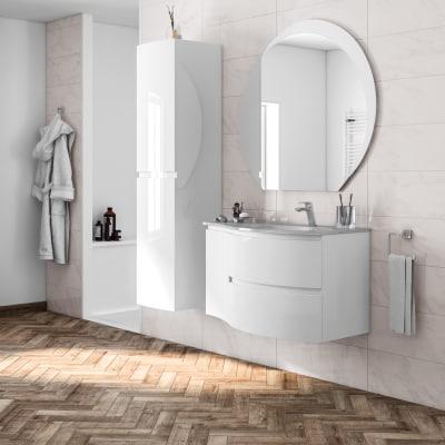 Mobile bagno vague bianco l 104 cm prezzi e offerte online - Mobile lavello cucina leroy merlin ...