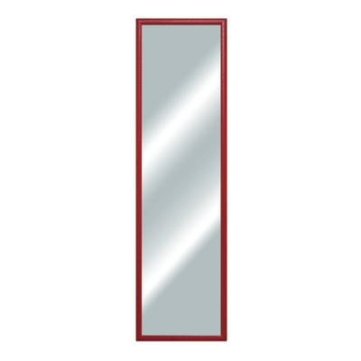 specchio da parete rettangolare bomber rosso 34 x 124 cm