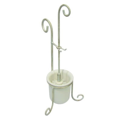 Porta scopino country madreperla bianco prezzi e offerte for Porta scopino leroy merlin