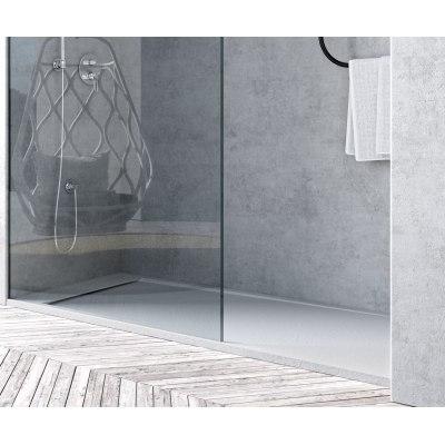 Piatto doccia resina River 130 x 70 cm bianco prezzi e offerte online  Leroy Merlin