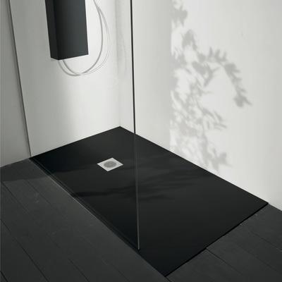 Piatto doccia acrilico boston 120 x 70 cm nero prezzi e for Offerte cabine doccia leroy merlin