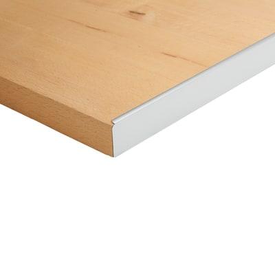 Profilo laterale alluminio grigio spazzolato l 67 cm for Profilo alluminio led leroy merlin
