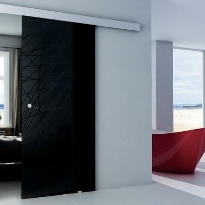 Porta da interno scorrevole Armonia Fumè 86 x H 215 cm reversibile ...
