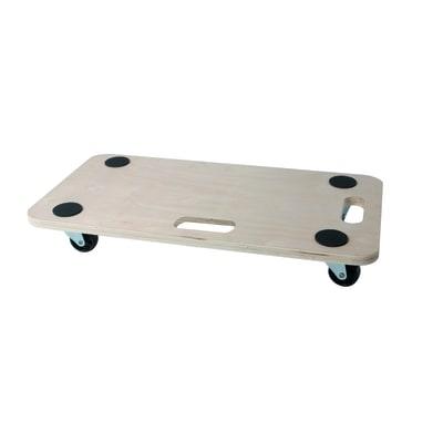 Carrello portatutto con piattaforma in legno 4 ruote for Ruote per carrelli leroy merlin