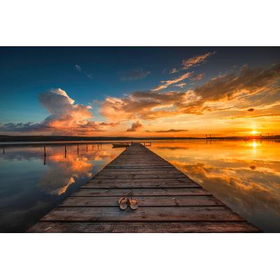 Quadro in vetro tramonto 97x45 prezzi e offerte online for Sdraio leroy merlin prezzi