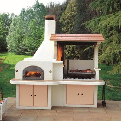 Barbecue in muratura con cappa e forno antille prezzi e offerte online leroy merlin - Cappa per cucina a legna ...