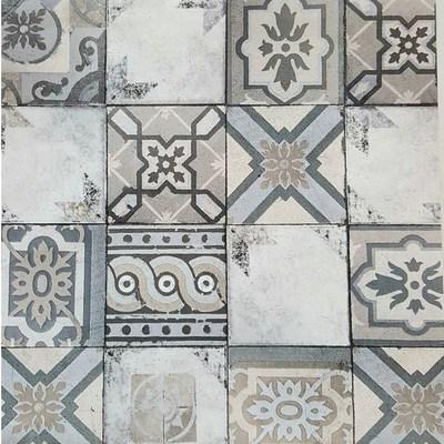 Carta da parati piastrella mosaico grigio 10 m prezzi e for Offerte carta da parati
