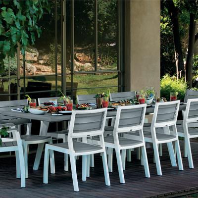 Tavolo allungabile harmony 160 x 100 cm bianco prezzi e offerte online leroy merlin - Tavolo da giardino leroy merlin ...