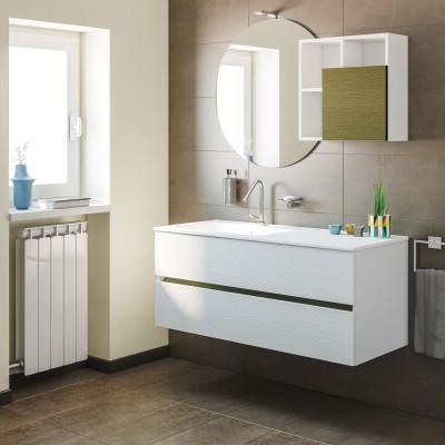 Mobile bagno share larice l 121 cm prezzi e offerte online for Sdraio leroy merlin prezzi