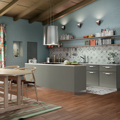 Cucina Delinia Monza Acciaio prezzi e offerte online | Leroy Merlin