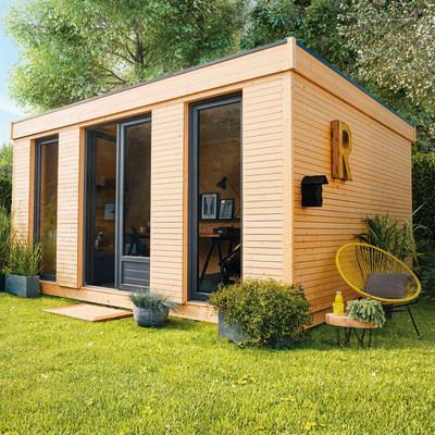 Casetta in legno grezzo decor home 21 34 m spessore 90 for Casetta legno bambini leroy merlin