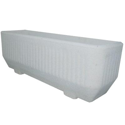 Fioriera rigata l80 x h31 x p28 cm prezzi e offerte online for Vasche in plastica da giardino