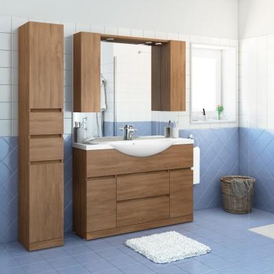 Mobile bagno elise rovere l 120 cm prezzi e offerte online leroy merlin - Mobile bagno 120 cm ...