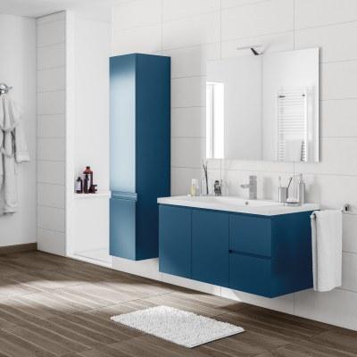 Mobile bagno gola blu navy l 105 cm prezzi e offerte for Mobile bagno blu