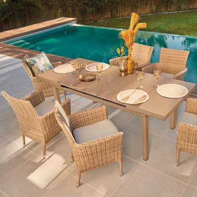 Set tavolo e sedie Costarica naturale prezzi e offerte online ...