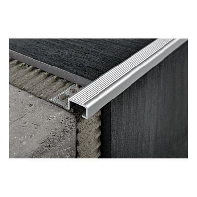 Profilo probrastep alluminio 3 x 270 cm prezzi e offerte for Profilo alluminio led leroy merlin