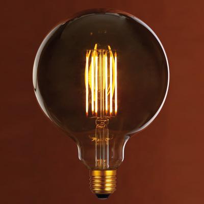 Lampadina decorativa led glo giallo e27 6w 400lm equiv for Lampade leroy merlin