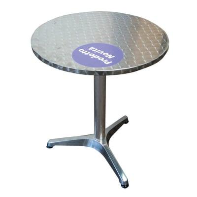 Tavolo Rotondo Per Esterno.Tavolo Da Pranzo Per Giardino Rotondo Con Piano In Alluminio O 60