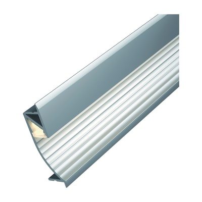 Profilo cup con cover grigio argento 1 m prezzi e for Profilo alluminio led leroy merlin