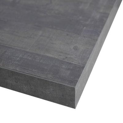 Piano cucina su misura in laminato Kaos grigio , spessore 4 cm