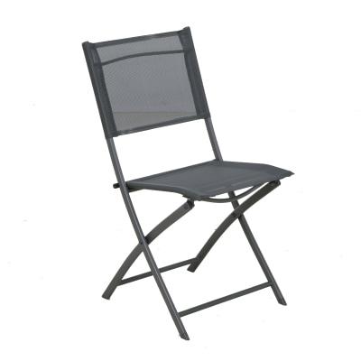 Sedia pieghevole in acciaio Palma NATERIAL colore grigio