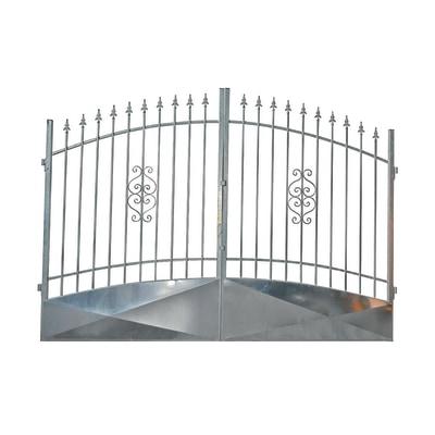 Dimensioni Cancello A Due Ante.Cancello Etna In Ferro Zincato L 350 X H 170 195 Cm Prezzi E
