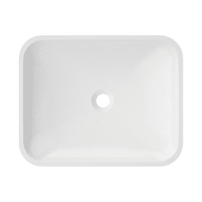 Lavabo da appoggio rettangolare Lynn L 50 x P 9 x H  40 cm