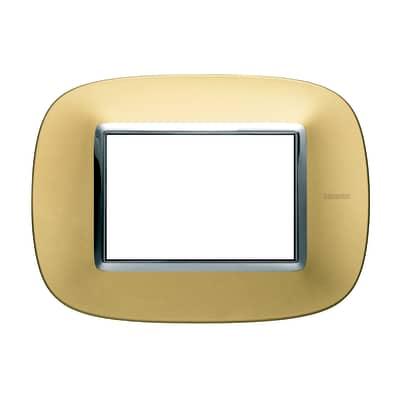 Placca 3 moduli BTicino Axolute oro satinato