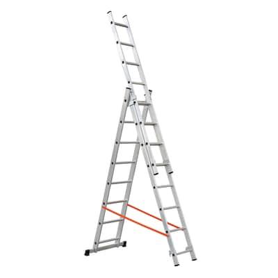 Scala sfilo alluminio Gierre 3x8 gradini, per lavori fino a 5,7 m