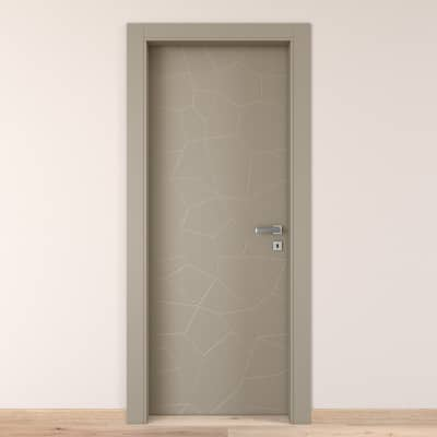 Porta da interno battente The Thing grigio 60 x H 210 cm sx