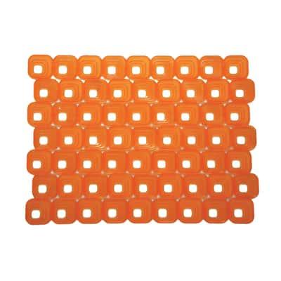 Tappetino lavello Optical arancione L 40 x H 30 cm