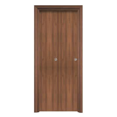 Porta da interno pieghevole Auda noce 70 x H 210 cm reversibile
