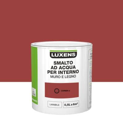 Smalto Luxens all'acqua Rosso Carmen 3 satinato 0.5 L