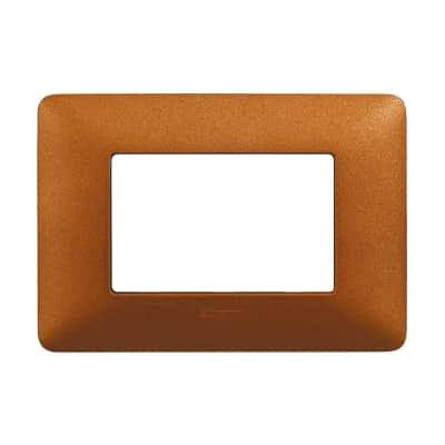 Placca 3 moduli BTicino Matix rosso terra