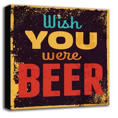 quadro su tela Wish beer 60x60