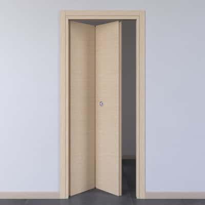 Porta da interno pieghevole Spring rovere chiaro 80 x H 210 cm sx