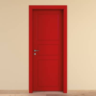 Porta da interno battente New York rosso 90 x H 210 cm dx