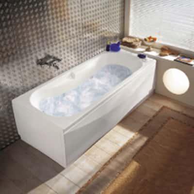 Vasca idromassaggio egeria 160 x 70 cm prezzi e offerte for Leroy merlin parete vasca bagno
