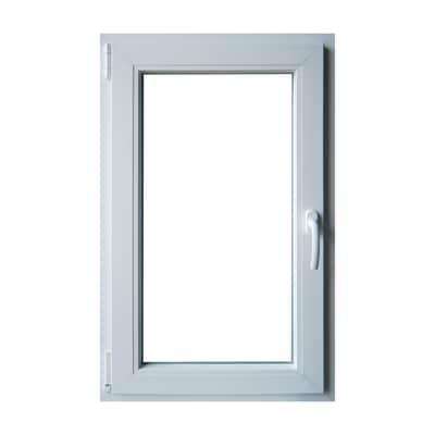 Finestra pvc bianco l 60 x h 100 cm sx prezzi e offerte for Stock finestre pvc