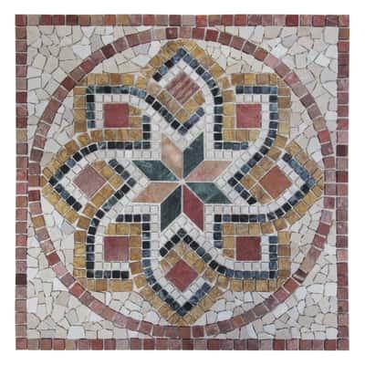 Rosone Gubbio bianco,rosso,beige 67 x 67 cm