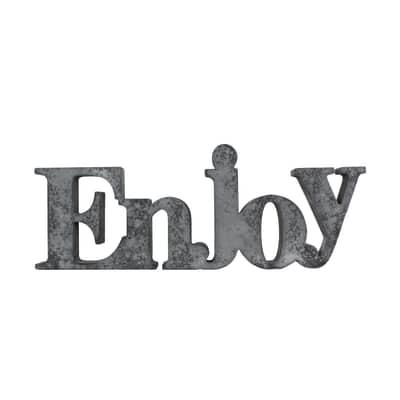 Scritta Enjoy cemento 41x25